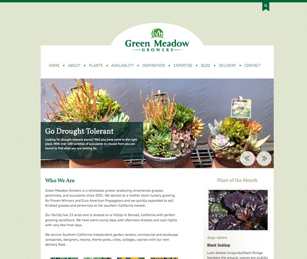 Green Meadows Website